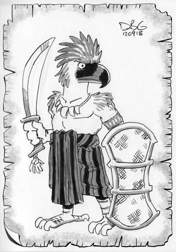 Philippine Eagle Tribal Warrior by BahalaNa