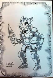 Cat Knight by BahalaNa