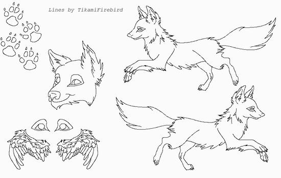 MS Paint Friendly Wolf-Fox Ref