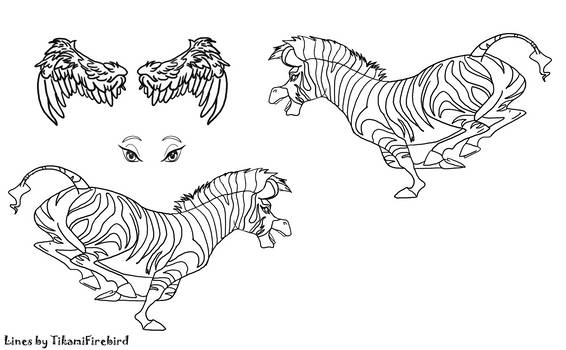 Zebra Reference Page Lineart