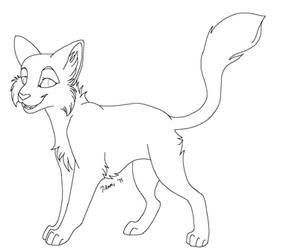New Cat MS Paint Line Art