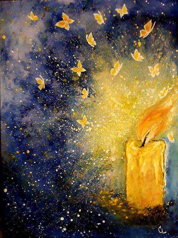 ...drops of light...