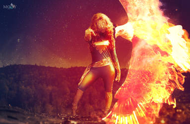 Dark Phoenix Mighty Eagle by moxymtg