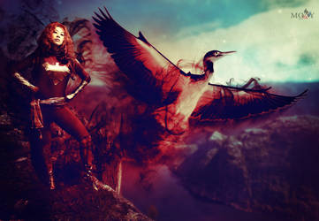 Dark Phoenix Crane Style by moxymtg