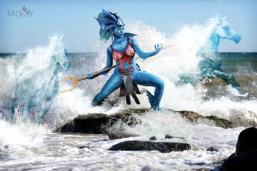 Kiora, Mistress of Waves by moxymtg