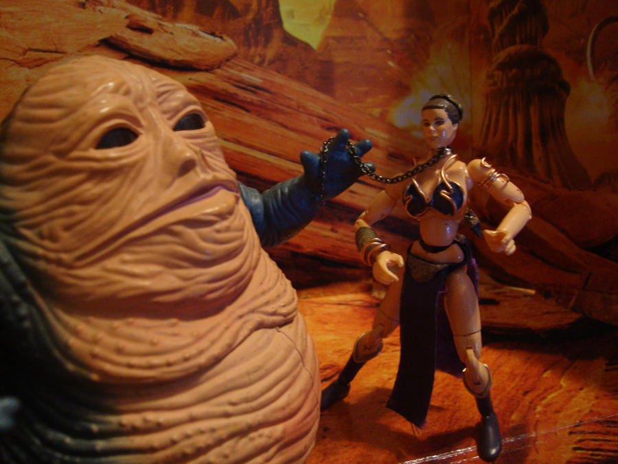 slave leia, jabba's pet by SpudaFett