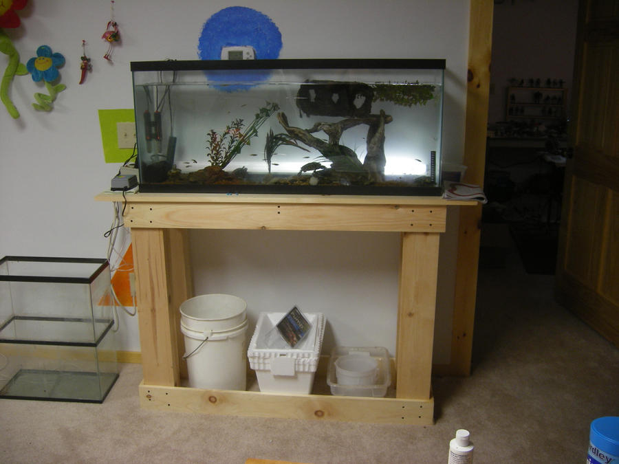 custom fish tank stand