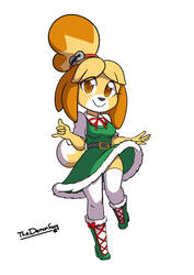 Speedpaint - Chibi Isabelle by TheDemonFoxy