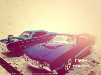 Hot Wheels: Plymouth Duster VS Ford Gran Torino by n24-second