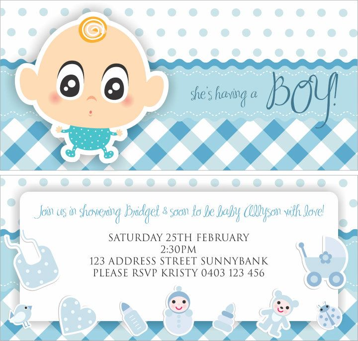 Invitation Boy Baby Shower by designsbyleigh on DeviantArt