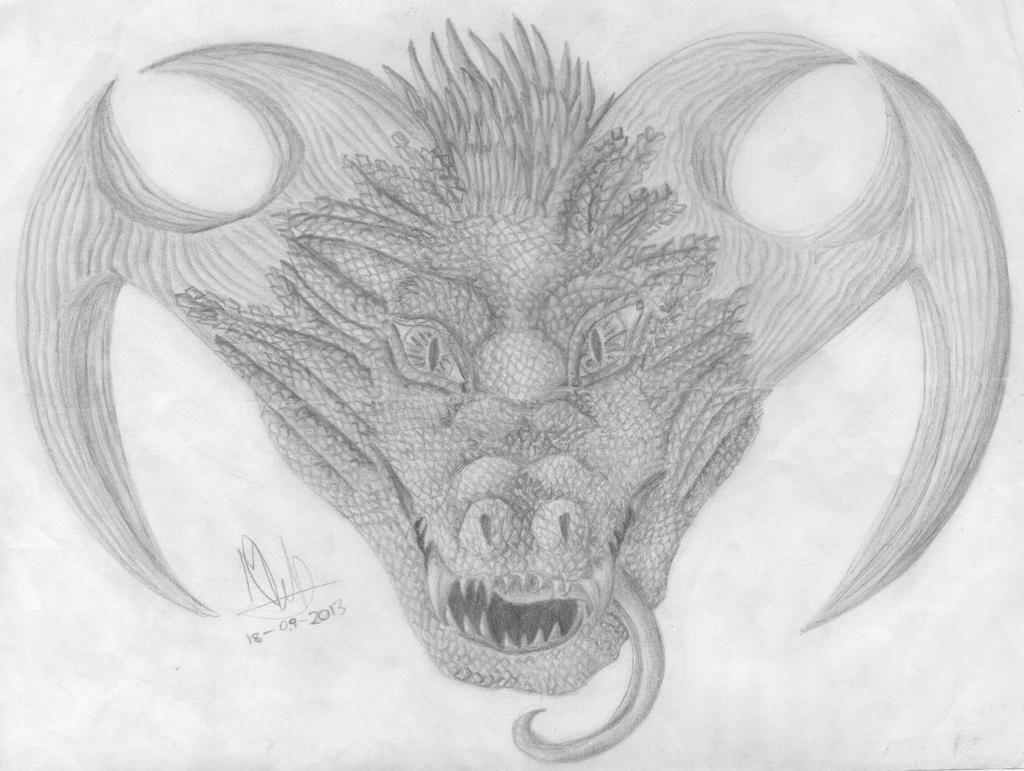 115) Dragonic head :D by Magicull-Delesia