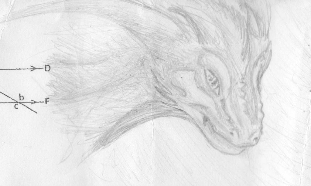 119) Dragon head school doodle by Magicull-Delesia