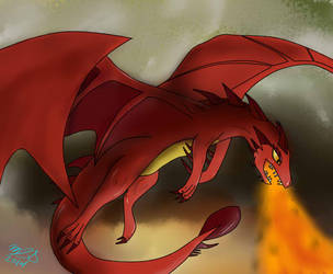 Smaug Request by iceprincess7d