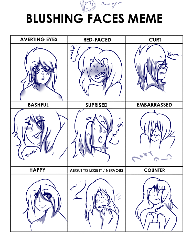 how to make blushing face