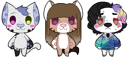 YCH Chibi page doll - Esarts-Adopts by kklps113