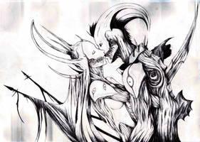 Demon kiss by bastarsoul