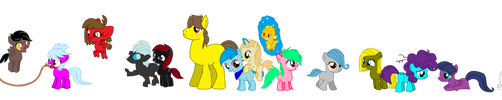 Custom ponies for hoopsandyoyofan by monkeystar290