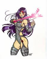 X-Treme X-men Psylocke by CrimsonArtz