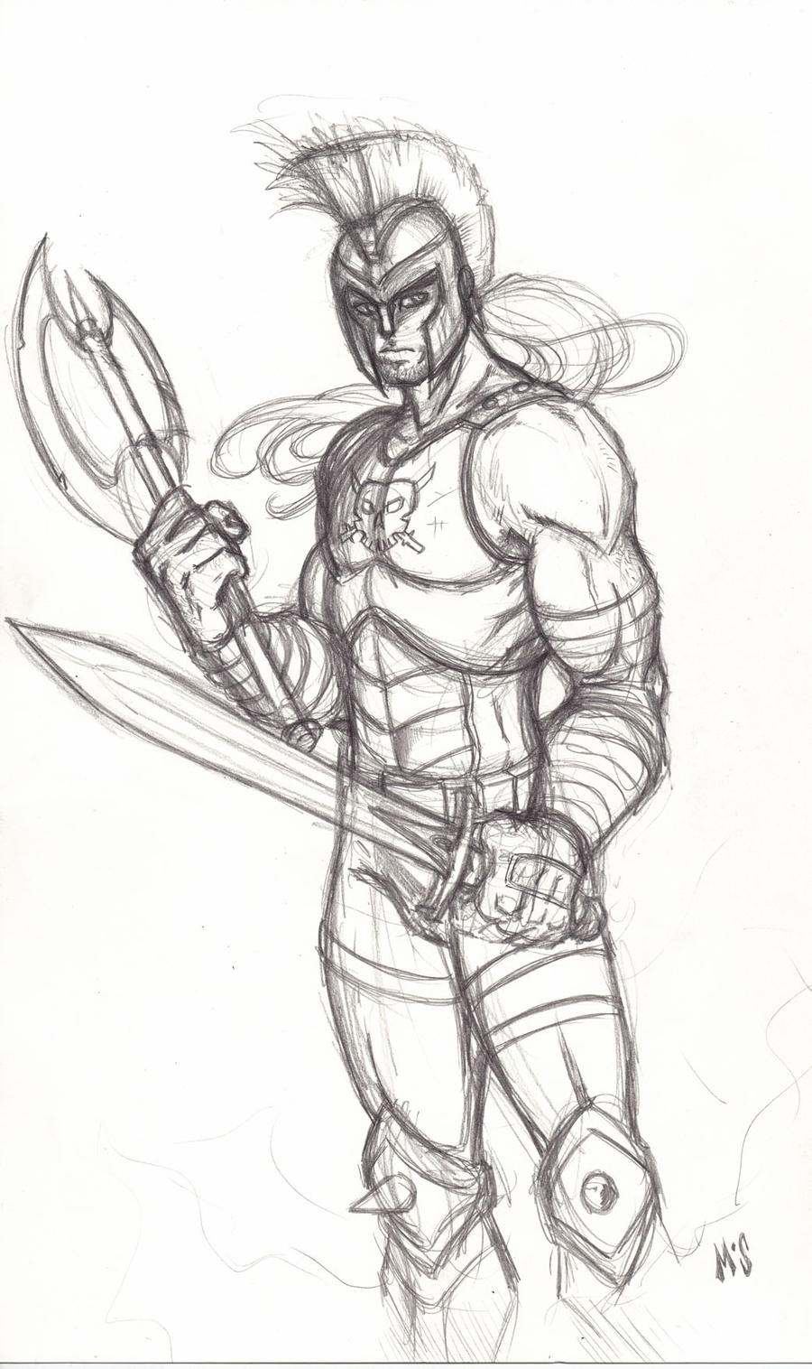 Greek God Ares Drawing Ares by CrimsonArtz on...