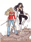 Wonder Girl and Donna Troy