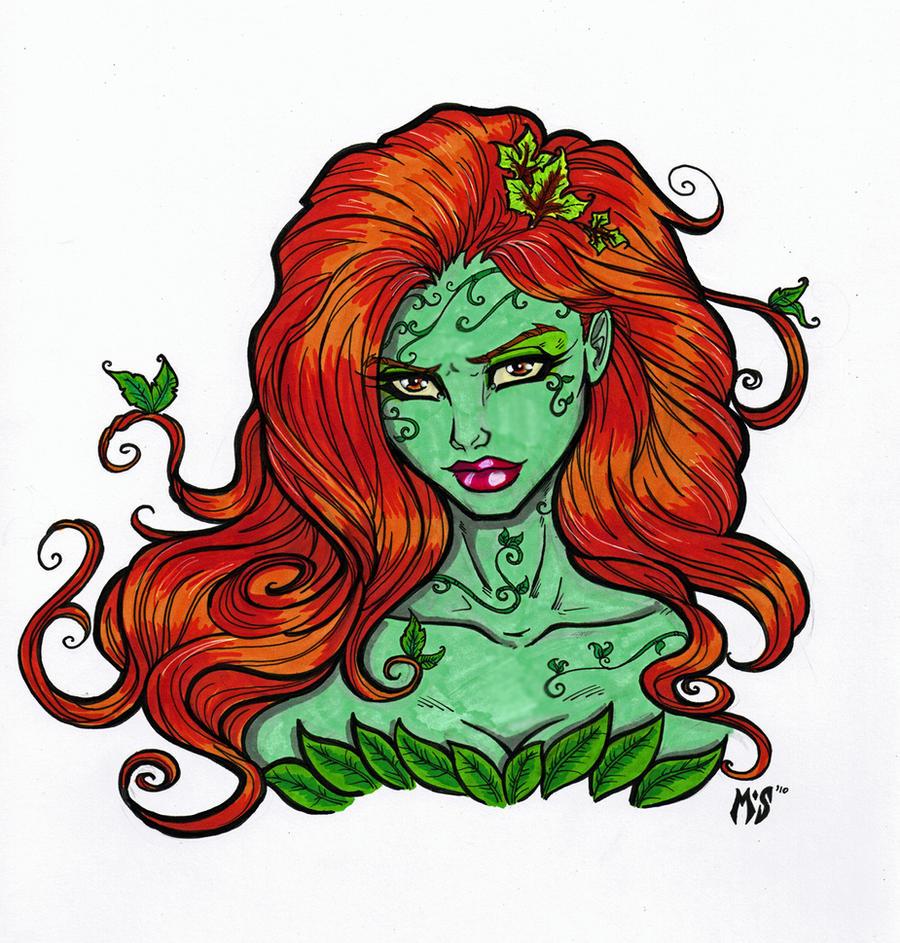 Poison Ivy Bust by CrimsonArtz on DeviantArt