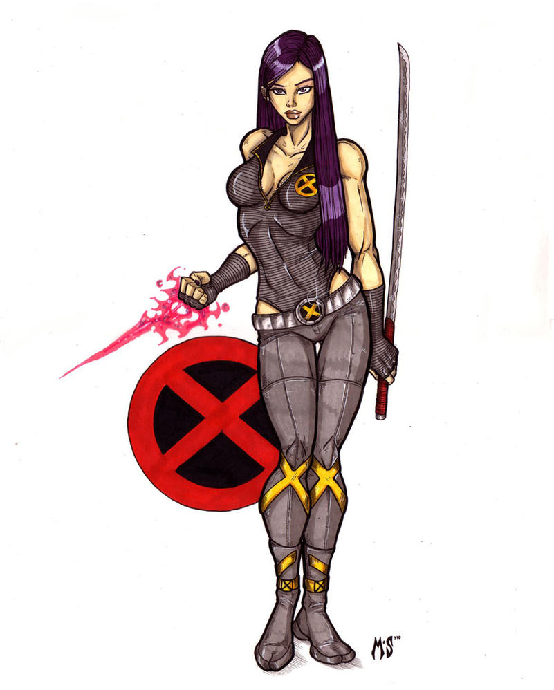 New X-men - Psylocke by CrimsonArtz