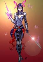 Psylocke Redesign by CrimsonArtz