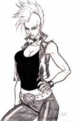 Punk Storm Sketch by CrimsonArtz