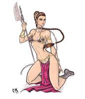 Slave Leia by CrimsonArtz