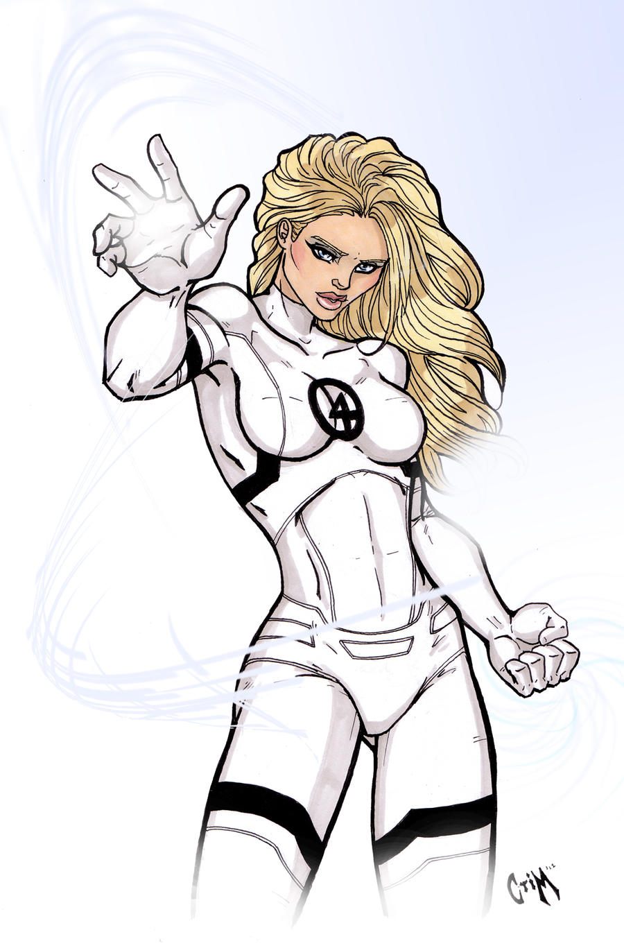 Invisible Woman New by CrimsonArtz