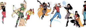 Young Justice studies by CrimsonArtz