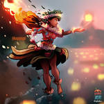 Hawaiian Dancer for the Character Design Challenge