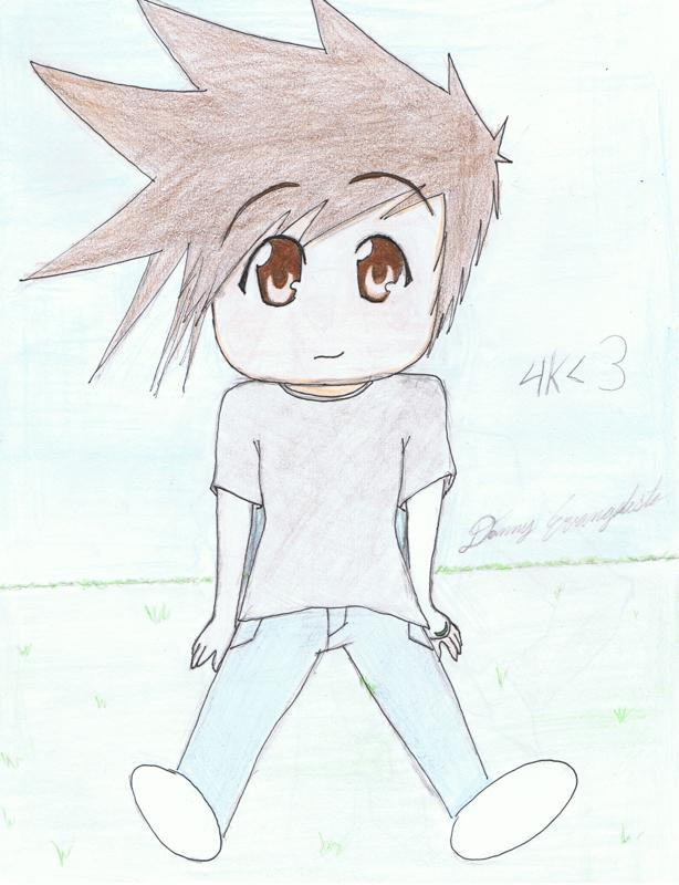 anime boy drawing. who likes to draw anime.