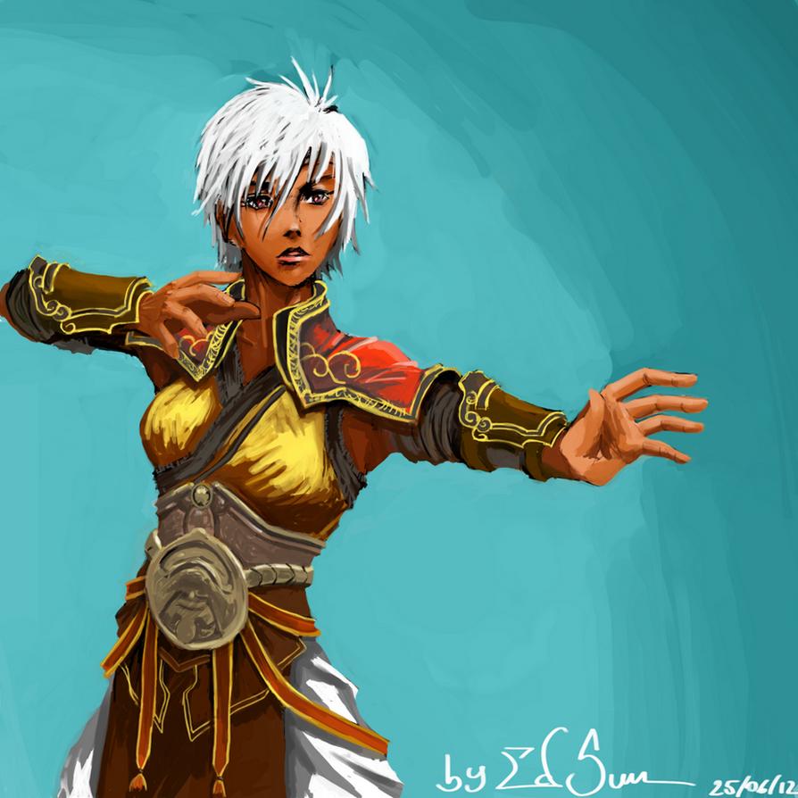 Female Monk (Diablo 3) by edsun