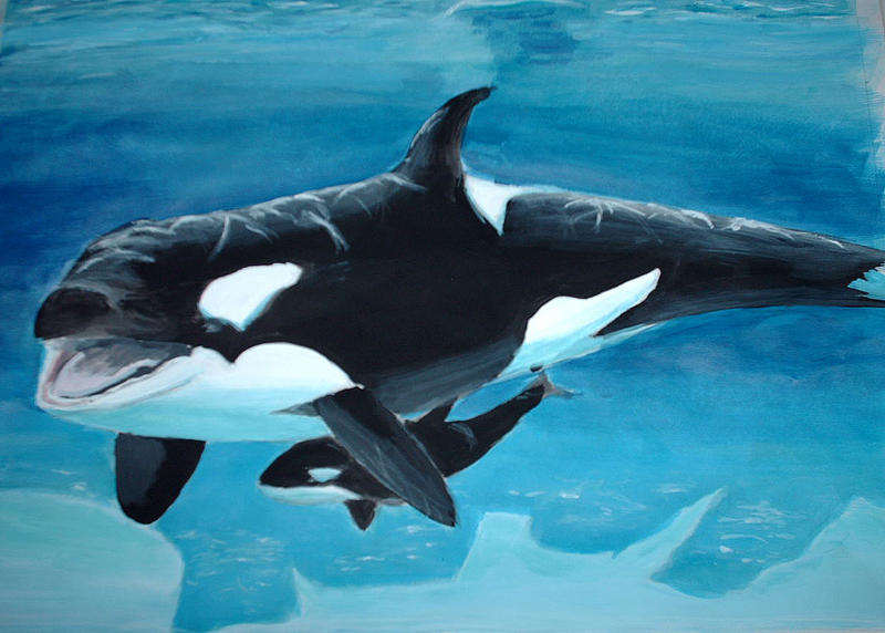 Mother and Child 2_Orcas by German-Blood