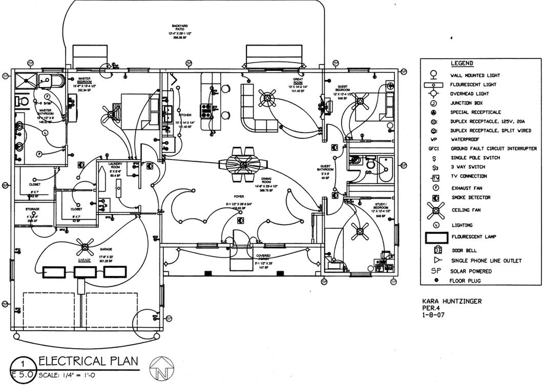 electrical plan by german