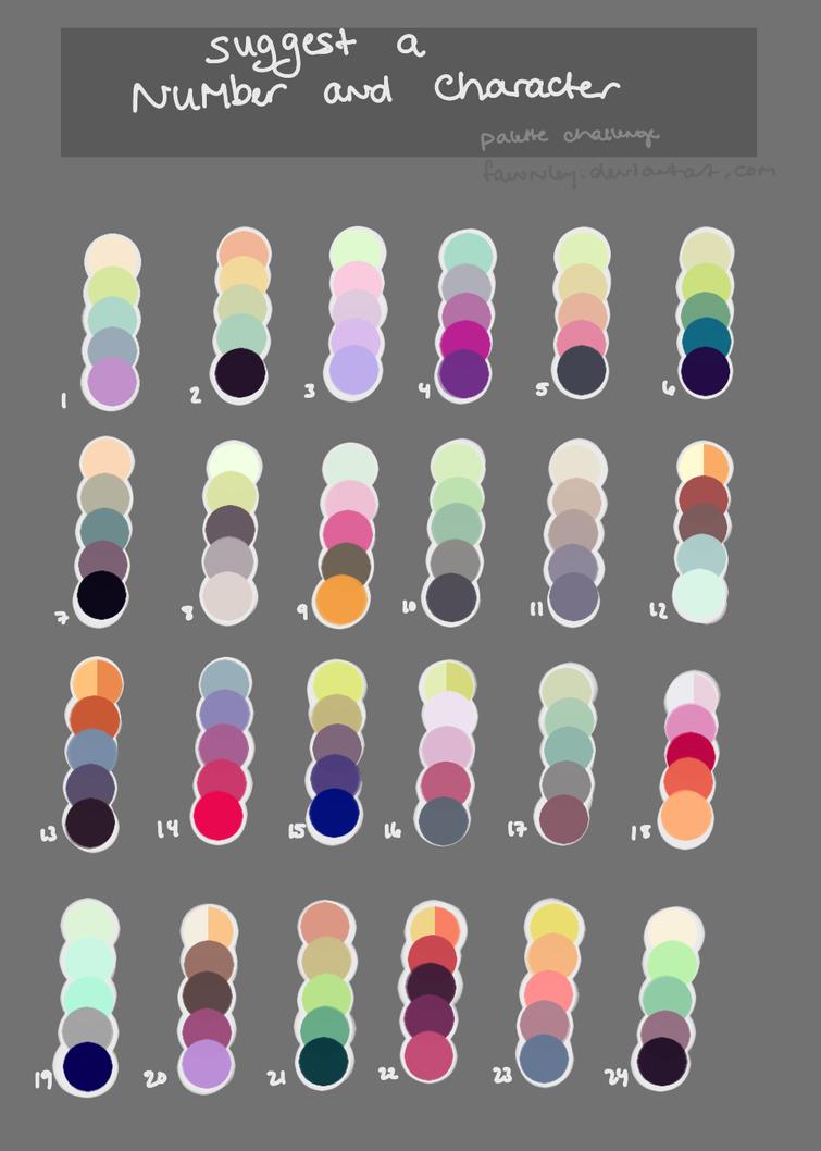 Character Design Color Palette : Color palette challenge by fawnley on deviantart