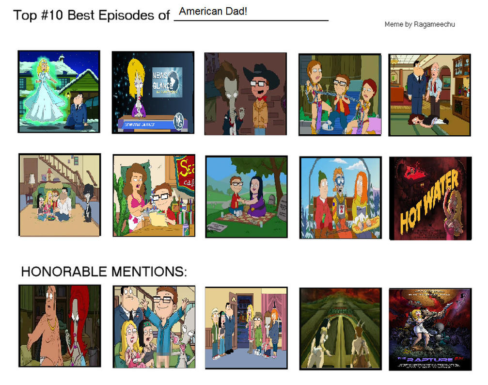 top 10 best episodes of american dad by furrymessvsthecogs on