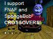 STAMP: FNAF and SpongeBob by FurryMessVSTheCogs