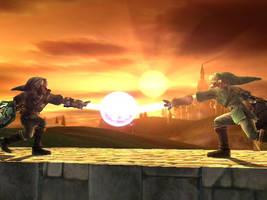 Link VS. Dark Link by yamiseto2