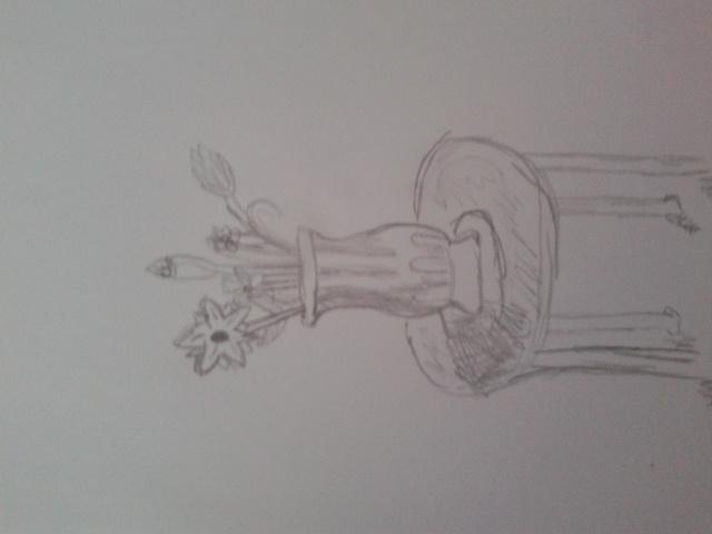 Flower Vase Sketch By Archergirl101 On Deviantart