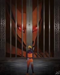 Naruto and Kurama Fanart