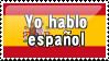 I Speak Spanish by ClockworkStamps