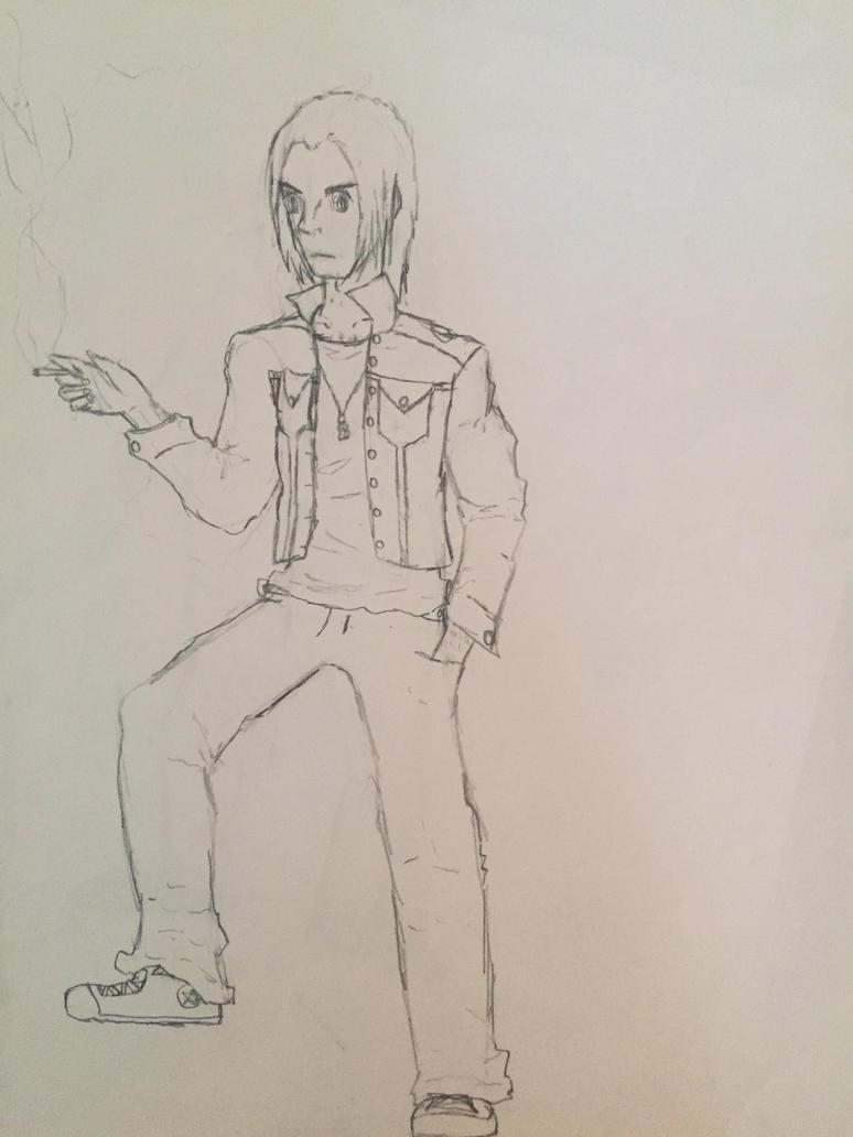 Self Sketch by electrostaticblade