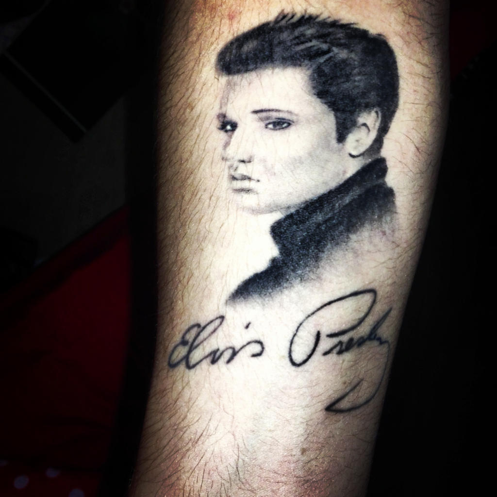 Elvis presley tattoo by thatartistcal on deviantart for Elvis presley tattoos
