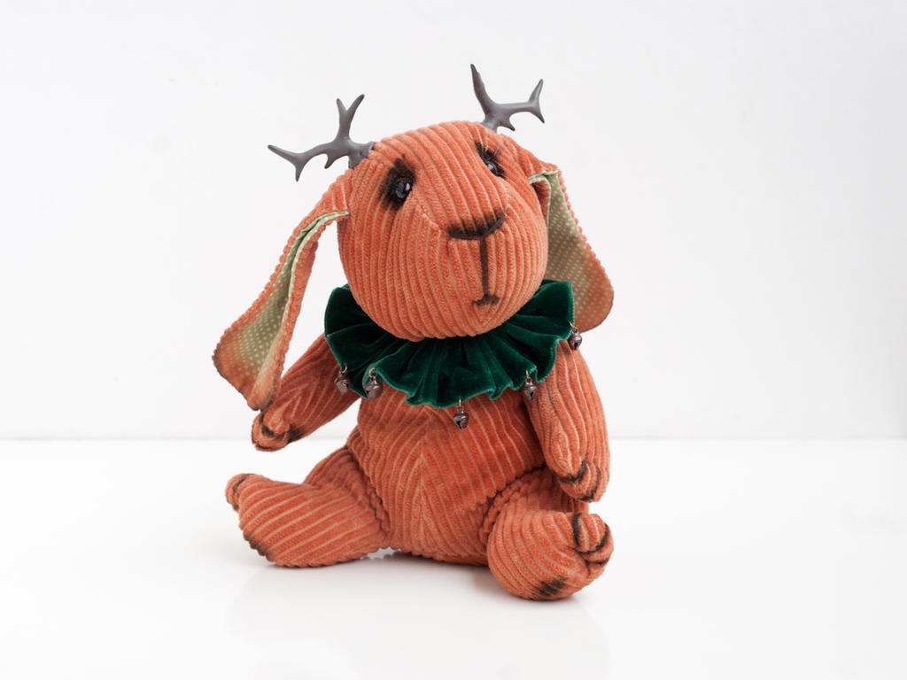 Artist bunny Jackalope by freedragonfly