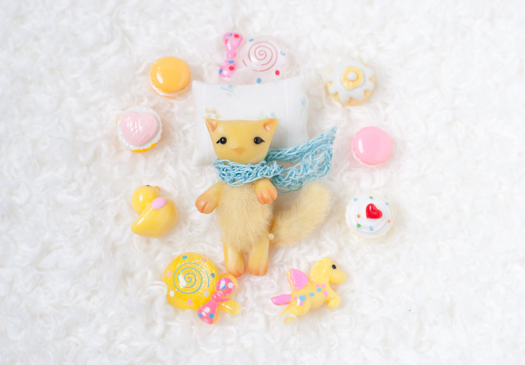 yellow cat with treasures by freedragonfly