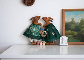 the big rabbits with tiny friends