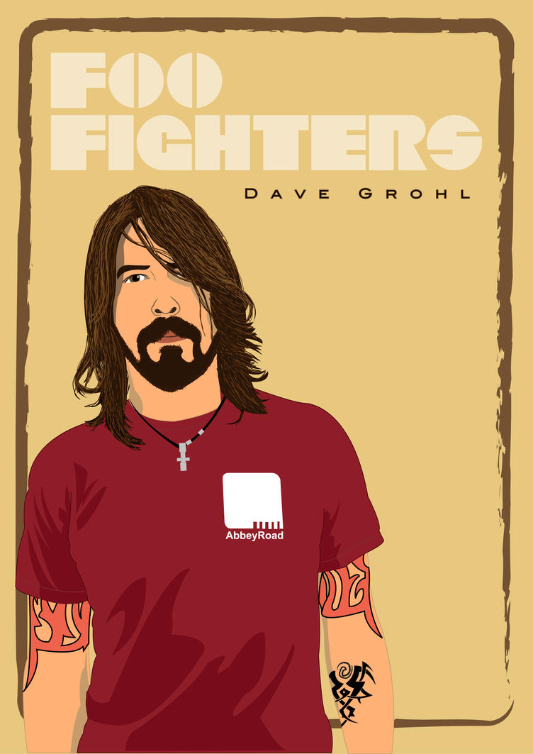Dave Grohl Foo Fighters by EnNaS