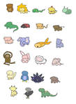 Chibi Animals coloured